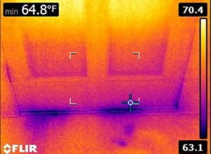 Thermal imaging door